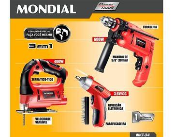 Imagen de Kit Mondial Taladro, Atornillador, Caladora Megastore Virtua