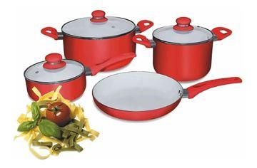 Imagen de Bateria de Cocina CUORI FRAGOLA 7 piezas