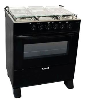 Imagen de Cocina Delicato 5h Negro A Gas C/encendido Megastore Virtual