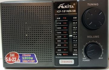 Imagen de Radios AKITA ICF 181 USB/BT/ Panel solar
