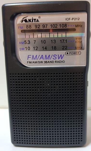 Imagen de Radios AKITA ICF P212 am/fm/sw 2AA