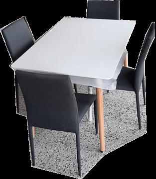 Imagen de Juegos de Comedor SZ Samara Mesa y 4 sillas Gris
